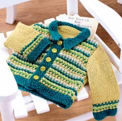 Vintage baby cardigan and bootee set Knitting Pattern