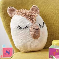 Alpaca Cushion Knitting Pattern