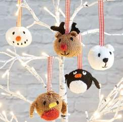Easy Animal Baubles Knitting Pattern