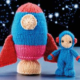 Mini Astronaut & Rocket Knitting Pattern