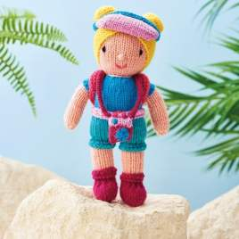 Backpacking Doll Knitting Pattern