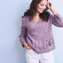 Beginner Sweater With Pockets Knitting Pattern