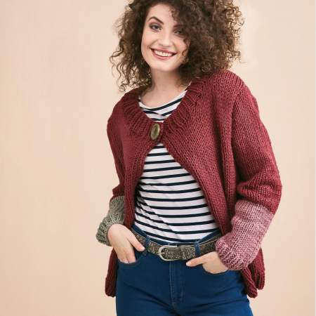 Beginners' Super Chunky Cardigan Knitting Pattern