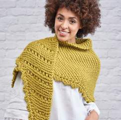 Beginner's Superchunky Eyelet Scarf Knitting Pattern