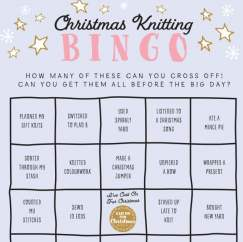 Cast On For Christmas: Knitting Bingo