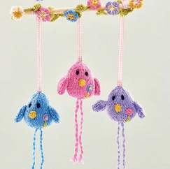 Birdy Wall Hanging Knitting Pattern