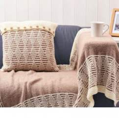 Blanket and cushion set Knitting Pattern