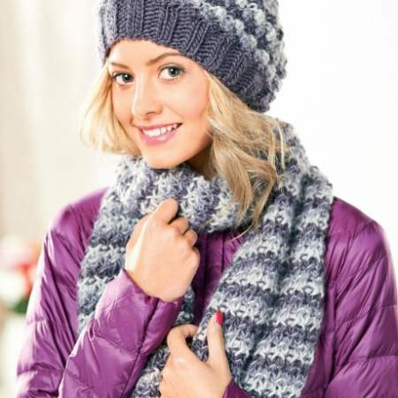 Bobble Hat and Scarf Knitting Pattern
