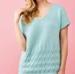Bright and Breezy Cotton Top Knitting Pattern