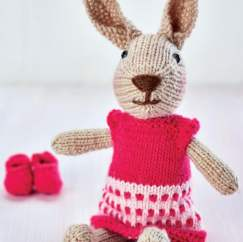 Bunny Toy With Extra Outfits Knitting Pattern