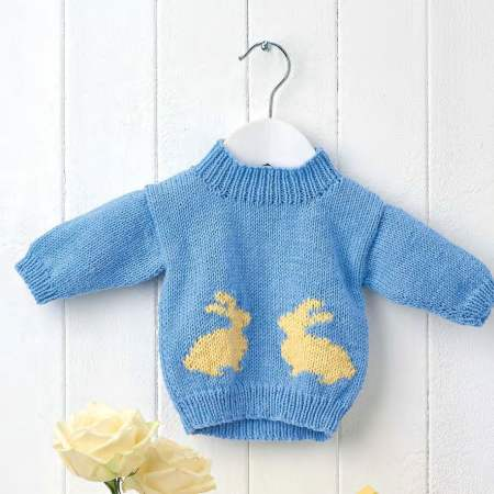 Learn To Knit A Bunny Baby Jumper Knitting Pattern