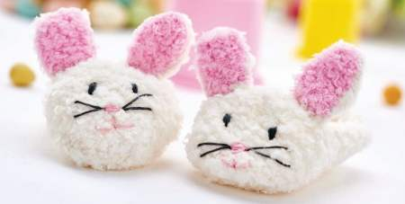 Learn to Knit Easy Bunny Baby Slippers Knitting Pattern