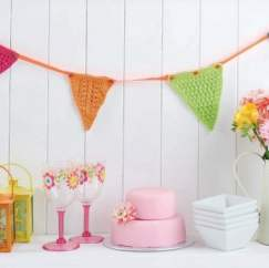 Colourful bunting Knitting Pattern