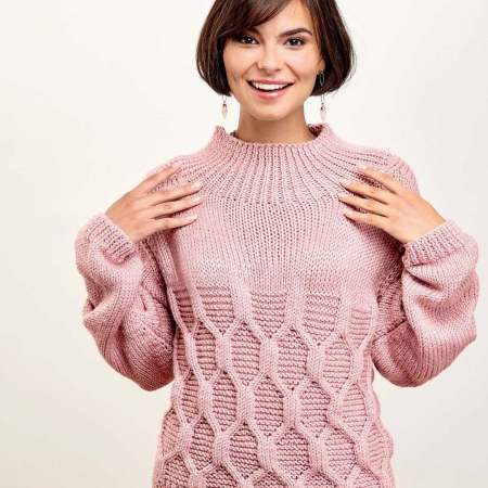 Cable Keyhole Back Jumper Knitting Pattern