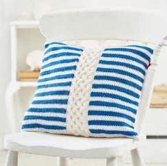 Cable And Stripe Cushion Knitting Pattern
