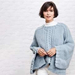 Cable Panel Cape Knitting Pattern