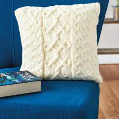 Cable Pattern Cushion