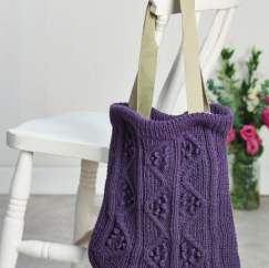 Cabled Bag Knitting Pattern