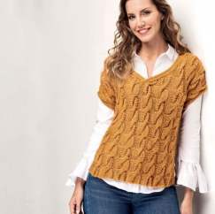 Cable Tunic Top Knitting Pattern