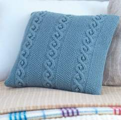 Cable Cushion Cover Knitting Pattern