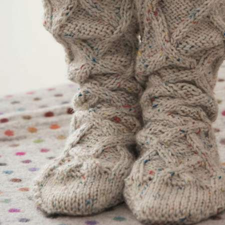 Cabled Knee Socks Knitting Pattern