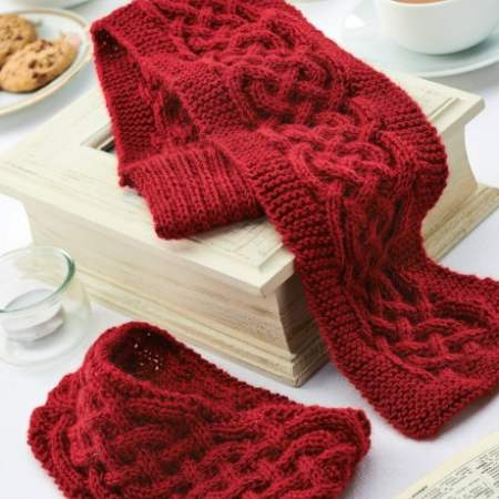 Cabled winter accessories Knitting Pattern