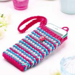 Strappy phone case Knitting Pattern