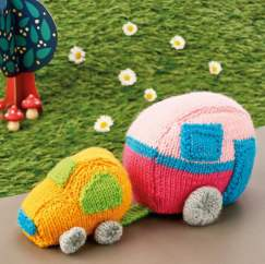 Car & Caravan Knitting Pattern
