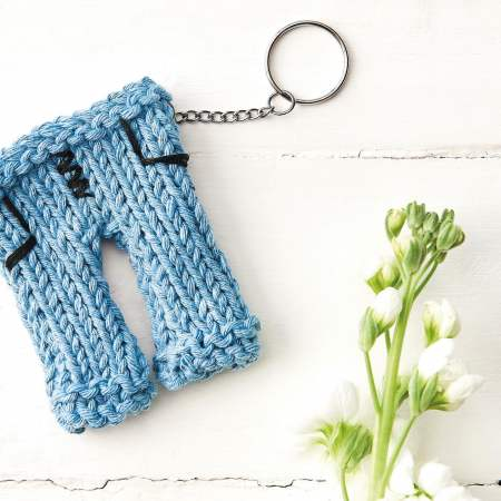 Charity Keyring for Jeans for Genes Day Knitting Pattern