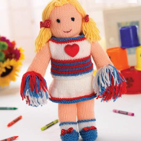 Cheerleader Doll Knitting Pattern