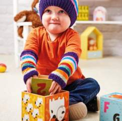 Child's Hat and Wristwarmer Set