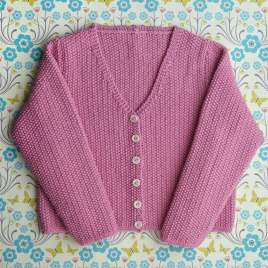 Child's Moss Stitch Cardigan Knitting Pattern