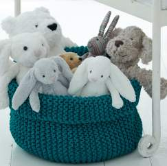 Child's Toy Basket Knitting Pattern