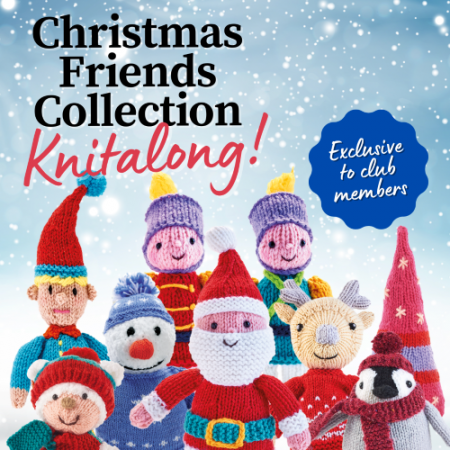 COMING 9TH SEPTEMBER! Christmas Friends Collection Knitalong Knitting Pattern