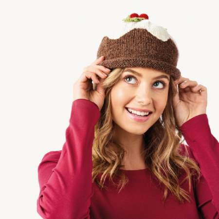 Christmas Pudding Hats for Babies, Children and Adults Knitting Pattern