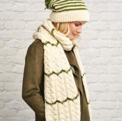 Chunky Stripe Hat and Scarf