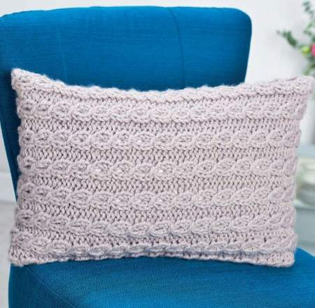 Chunky Cable Cushion Knitting Pattern