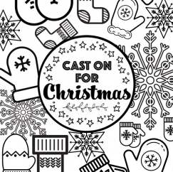 Cast On For Christmas: Christmas Colouring Download