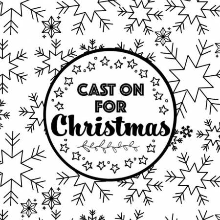 Cast On For Christmas: Snowflake Colouring Sheet Knitting Pattern
