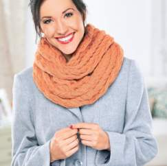Cosy Cabled Cowl Knitting Pattern