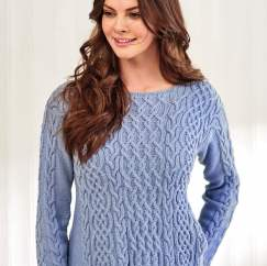 Debbie Bliss Cable Jumper Knitting Pattern