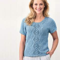 Denim Cable T-shirt Knitting Pattern