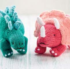Cute Dinosaur Toys Knitting Pattern
