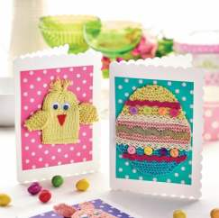Easter Cards Knitting Pattern