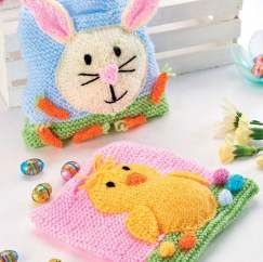 Quick Easter Gift Bags Knitting Pattern