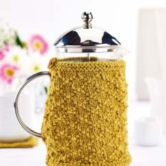 Easy Cafetiere and Coaster Set Knitting Pattern