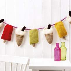 Easy Ice Cream Bunting Knitting Pattern