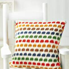 Easy Spotty Cushion Knitting Pattern