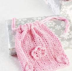 Eco Knitted Make Up Pads and Gift Bag