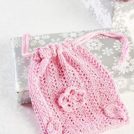 Eco Knitted Make Up Pads and Gift Bag Knitting Pattern